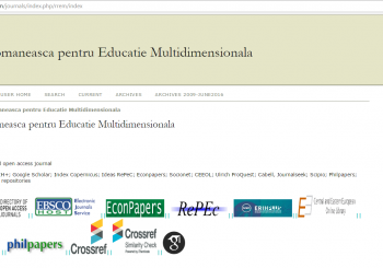Revista Romaneasca pentru Educatie Multidimensionala has a new website | OJS PLATFORM
